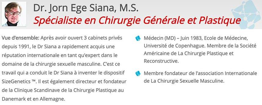 Dr. Jorn Ege Siana, M.S. Spécialiste en Chirurgie Générale et Plastique